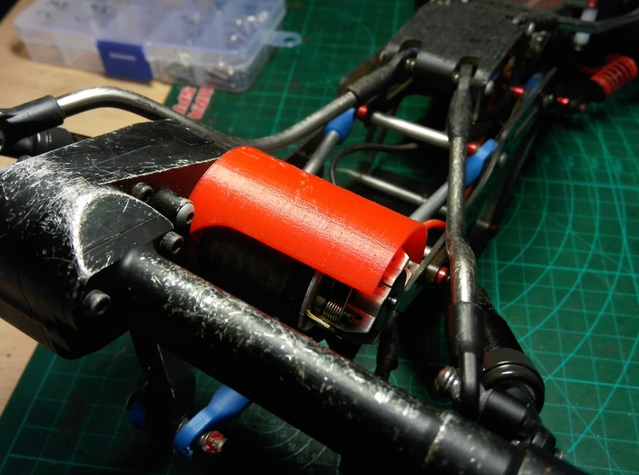 Motor Saver for Holmes Hobbies Puller 400 and 500 3d printed Installed on my Bully 2 rig rear