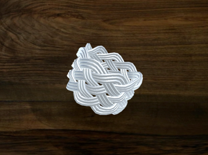 Turk's Head Knot Ring 6 Part X 9 Bight - Size 6.75 3d printed