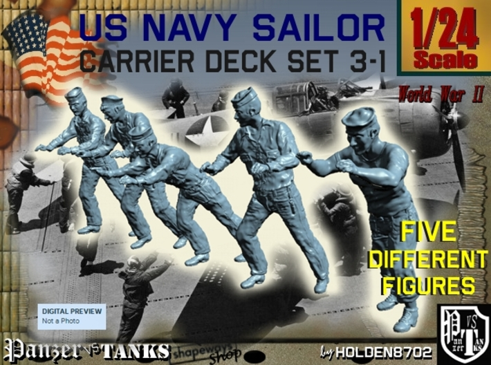 1-24 US Navy Carrier Deck Set 3-1 3d printed