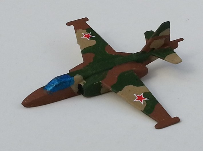 Su-25 Frogfoot 1/285 scale 3d printed Painted with decals and ready to play Check Your 6!