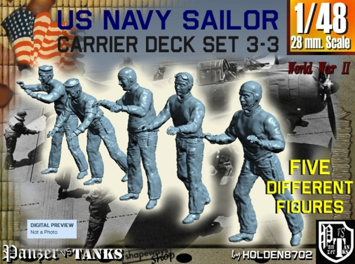 1-48 US Navy Carrier Deck Set 3-3 3d printed
