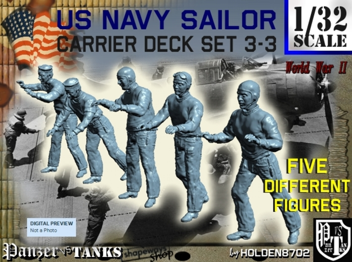 1-32 US Navy Carrier Deck Set 3-3 3d printed