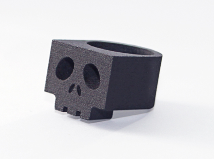 Cubic SkullRing US Size 6½ 3d printed