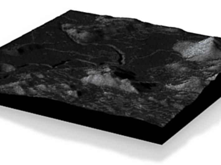 Apollo 15 landing site 3d printed