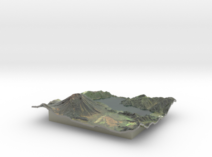 Mt. Nantai Map, Japan 3d printed