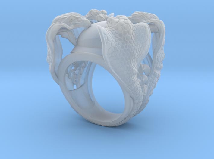 Cobra Ring 3d printed