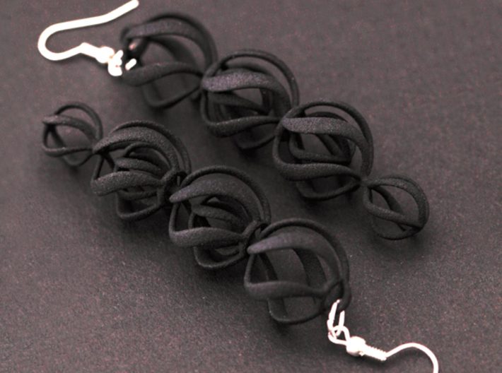 SWIRL - earrings 3d printed