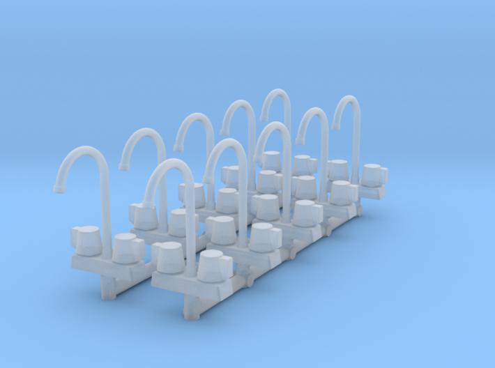 10 1:64 Commercial Faucet 3d printed