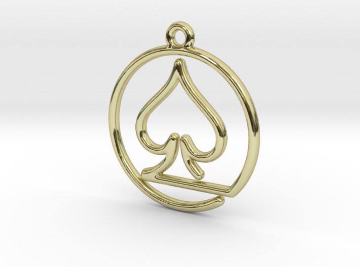 Pike Card Game Pendant 3d printed