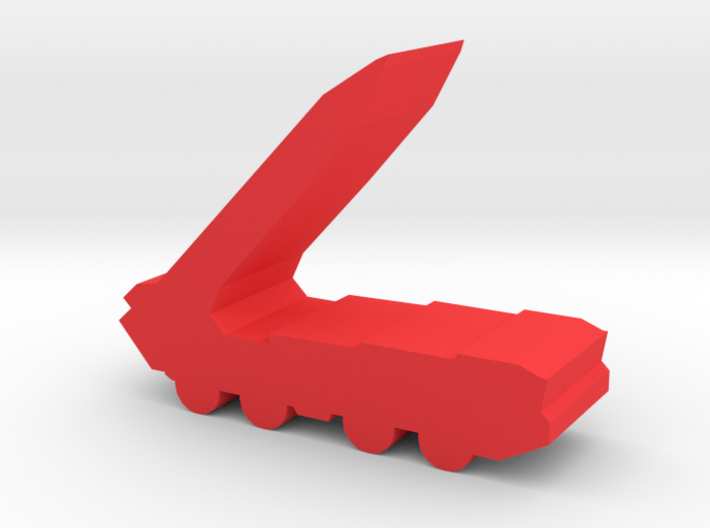 Game Piece, Red Force Missile Launcher 3d printed
