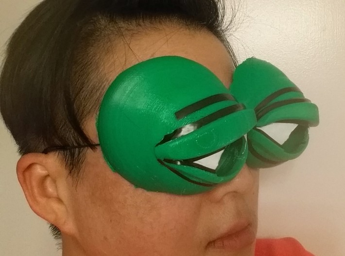 Pepe The Frog Holloween Costume Eyeglasses Tie On 3d Printed