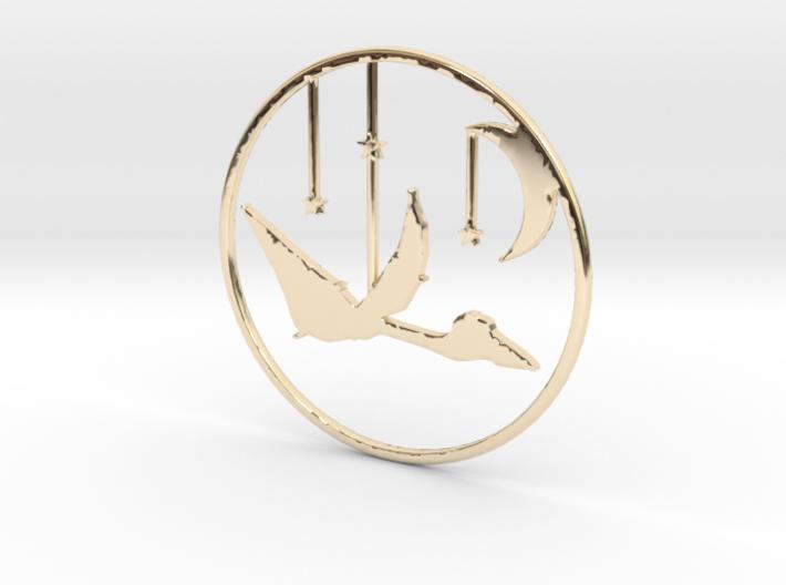Quetzalcoatlus Necklace Pendant 3d printed