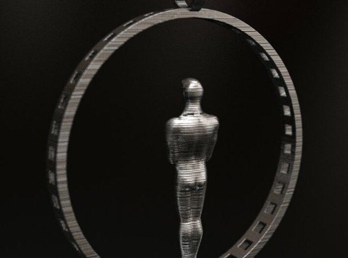 Oscar Award Academy Pendant (broken page) 3d printed