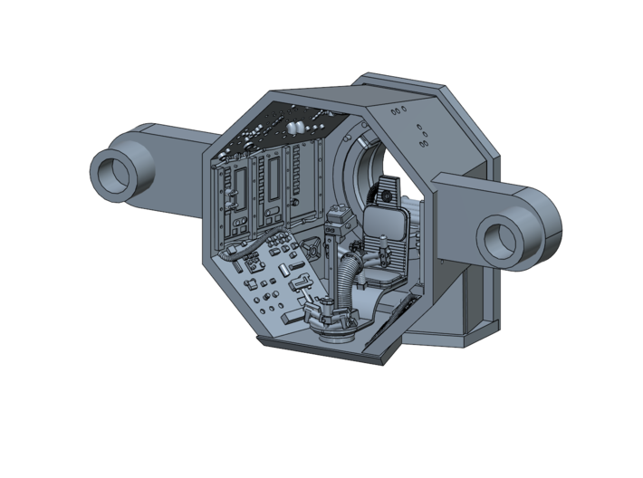 YT1300 BANDAY 1/144 TURRET WELL 3d printed Falcon Banday 1/144 turret well render.