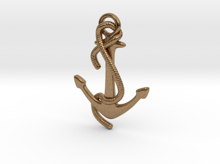 Anchor Earring 3d printed
