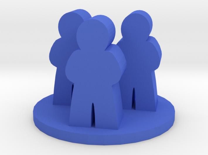 Game Piece, Meeple Group Token 3d printed