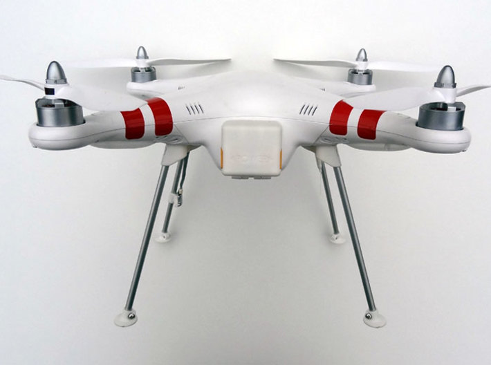 DJI Phantom Wide Battery Landing Gear 3d printed DJI Phantom Wide Battery Landing Gear front view