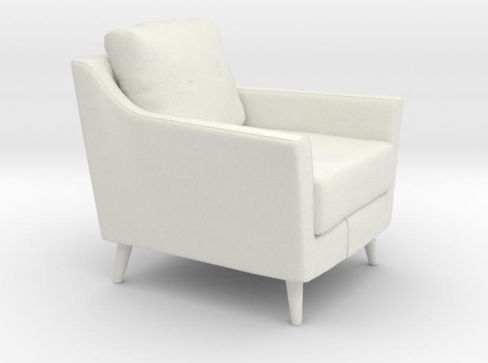 Retro Armchair 3d printed