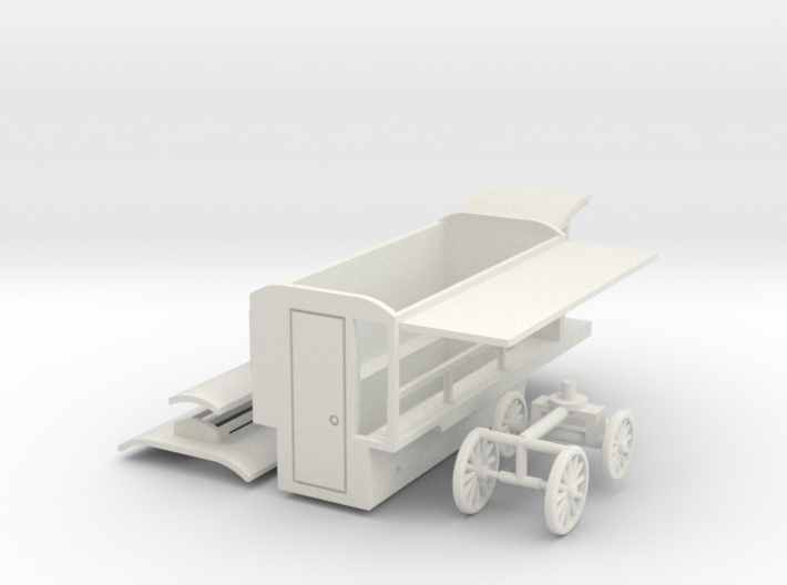 Verkaufskutsche - 1:220 (TT scale) 3d printed