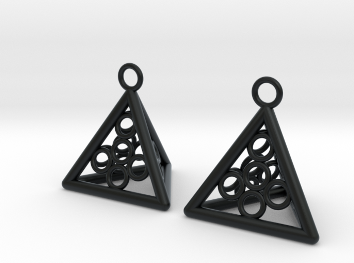 Pyramid triangle earrings serie 3 type 5 3d printed