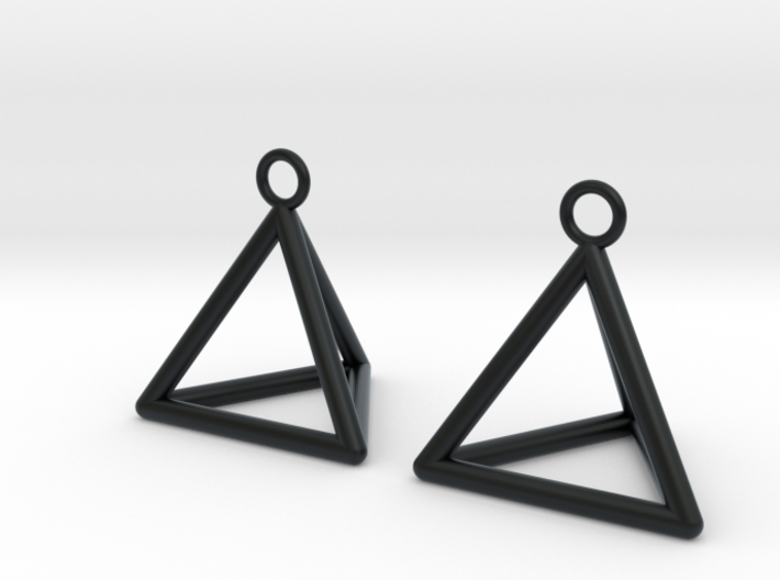 Pyramid triangle earrings 3d printed