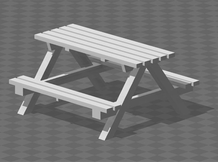 Picnic Benches 3d printed