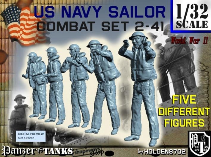 1-32 US Navy Sailors Combat SET 2-41 3d printed