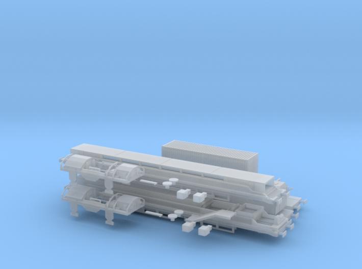 N Gauge Track Renewal Train 4 Wagon Set 3d printed