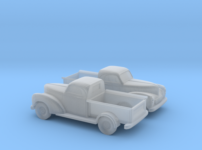 1/120 2X 1940 Willys Overland Half Ton Truck 3d printed