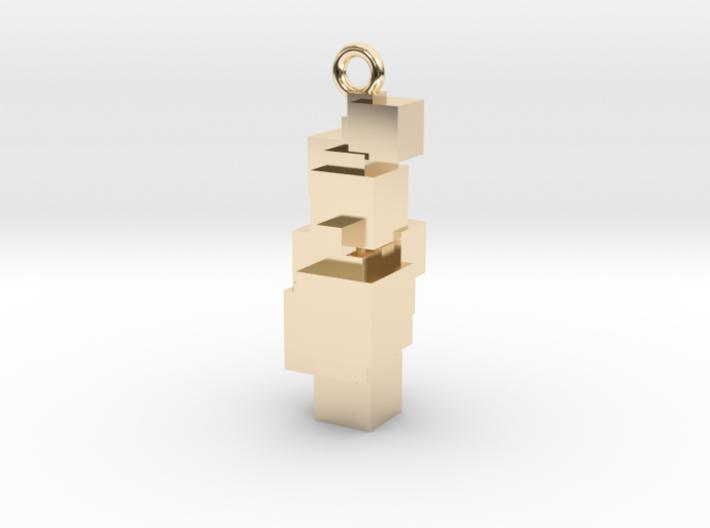 Pyrite Earring 3d printed