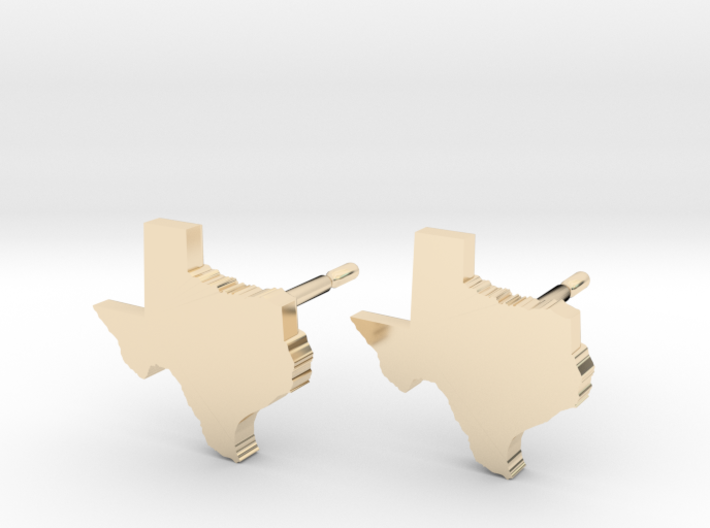 Texas State Earrings, post style 3d printed