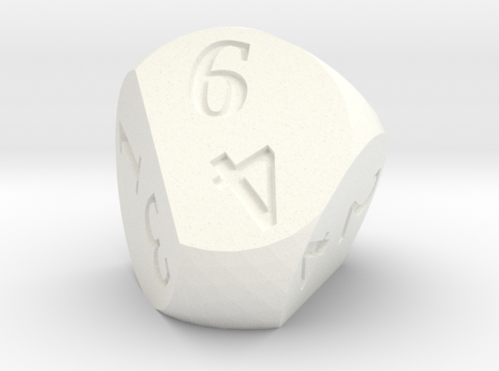 Weird D6 Rounded Dipyramid 3d printed SF showing a result of 6