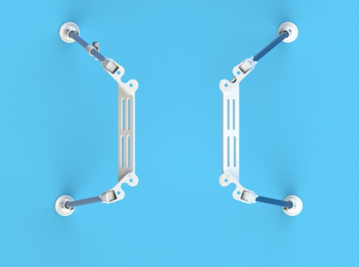 DJI Phantom Foldable Battery Landing Gear 3d printed DJI Phantom Foldable Battery Landing Gear top view