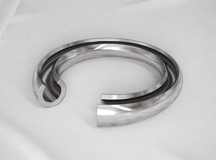 C Letter Ring 3d printed