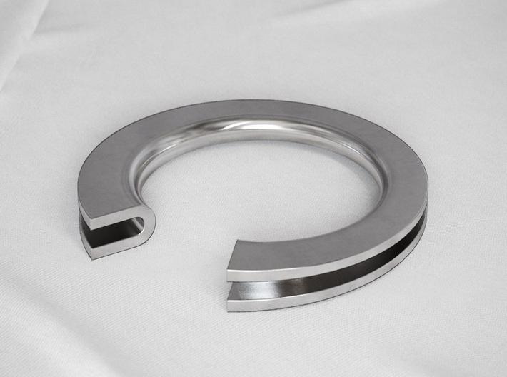U Letter Ring 3d printed