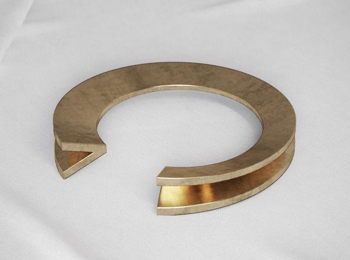 V Letter Ring 3d printed