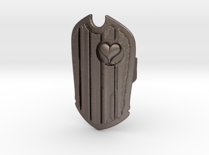 The Shielded Heart 3d printed