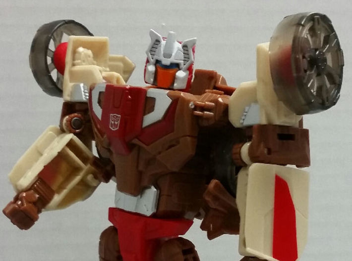 Chromedome Arm Wheels 3d printed Front