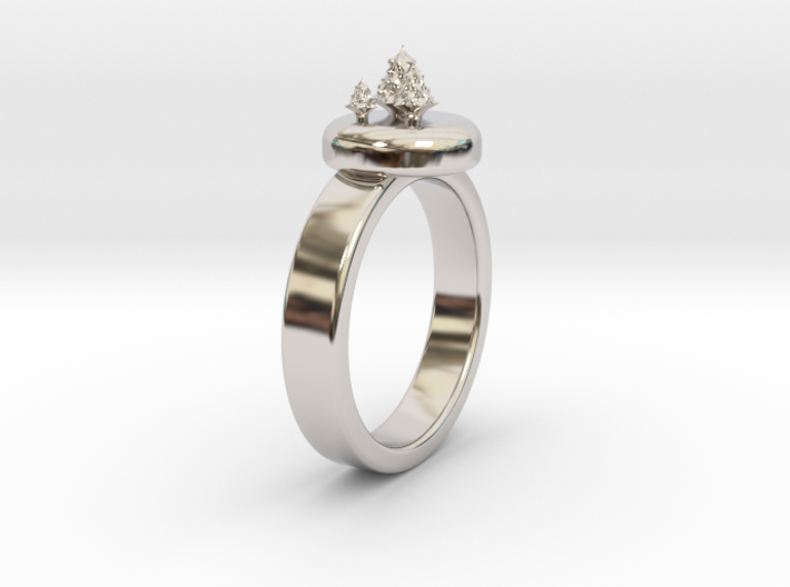 ChristmasTrees Ring Ø0.677 inch/Ø17.20 Mm 3d printed