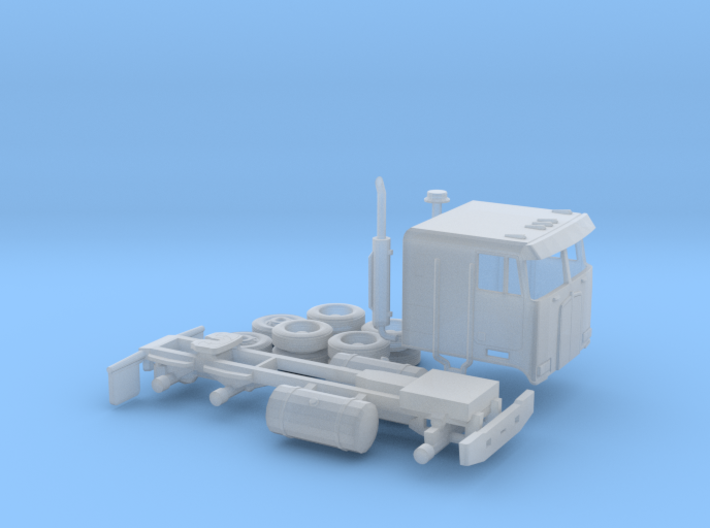 1/160 Kenworth Cabover Semi Truck 3d printed