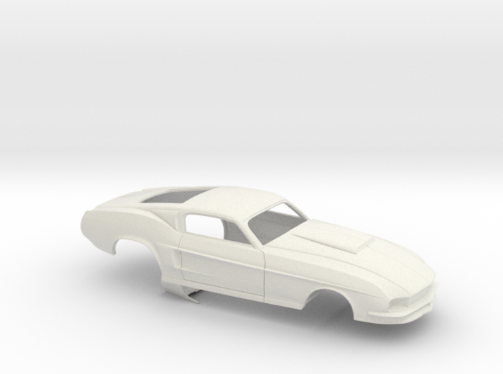 1/12 67 Pro Mod Mustang GT Stock Scoop 3d printed