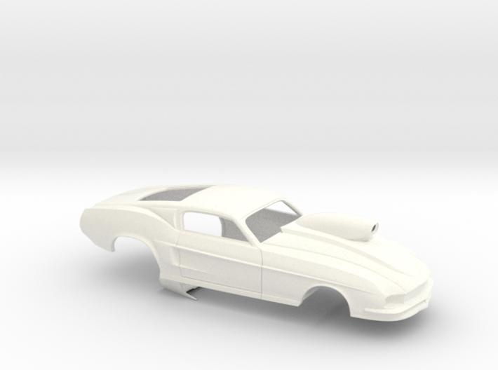 1/32 67 Pro Mod Mustang GT W Snorkel Scoop 3d printed