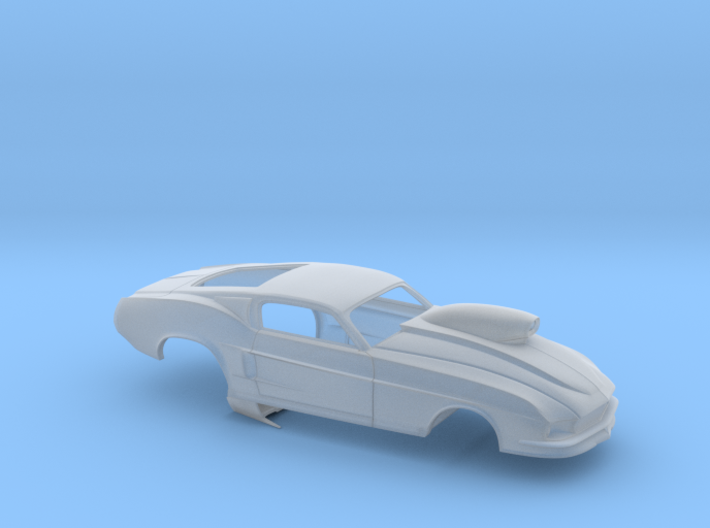 1/43 67 Pro Mod Mustang GT W Snorkel Scoop 3d printed