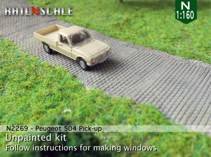 Peugeot 504 Pick-up (N 1:160) 3d printed