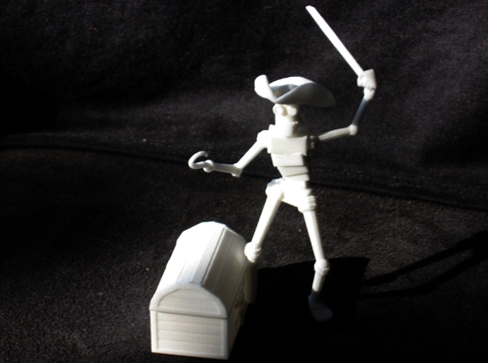 Pirate Robot 3d printed WSF