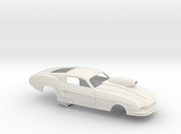 1/25 67 Pro Mod Mustang W Snorkel Sm Wheel Well 3d printed