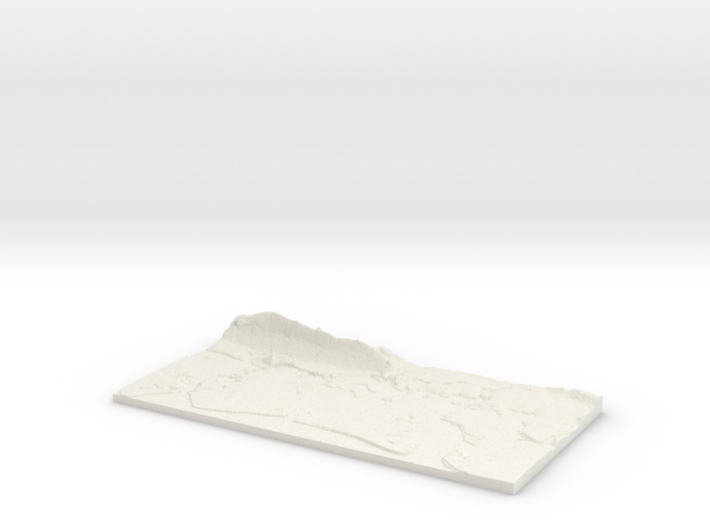 3D Relief map of Portsmouth, Langstone and Chiches 3d printed
