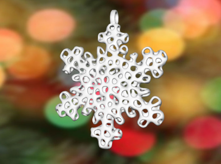 Snowflake Ornament - Carraigín 3d printed