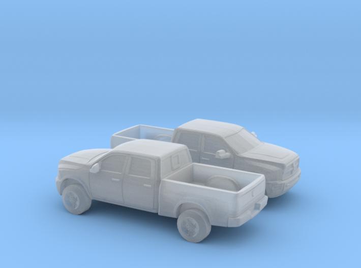 1-160 2X 2013 Dodge Ram Crew Power Wagon 3d printed