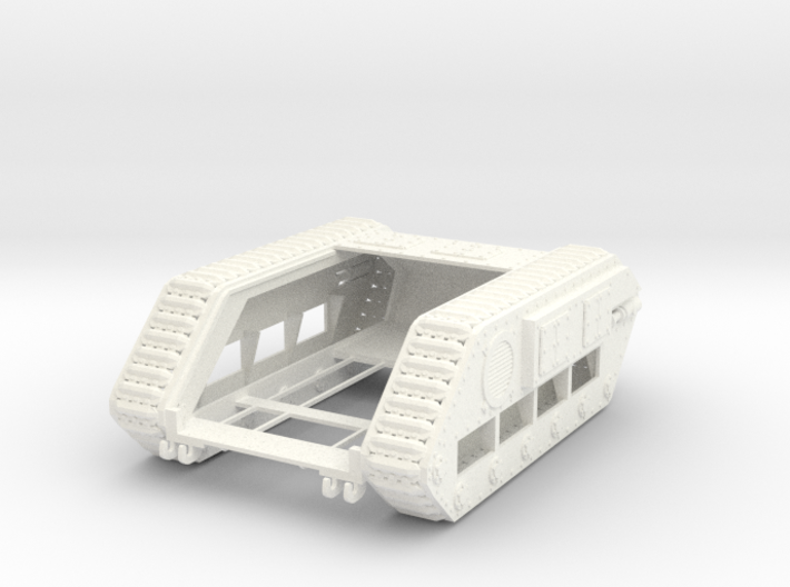 28mm Zerber tank chassis - downloadable 3d printed